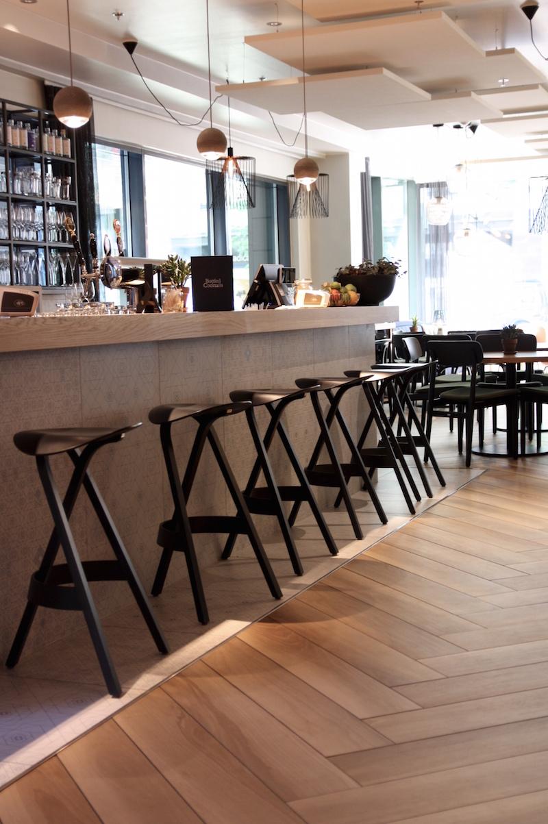 Inspiroiva tila ja menu Bulevardilla