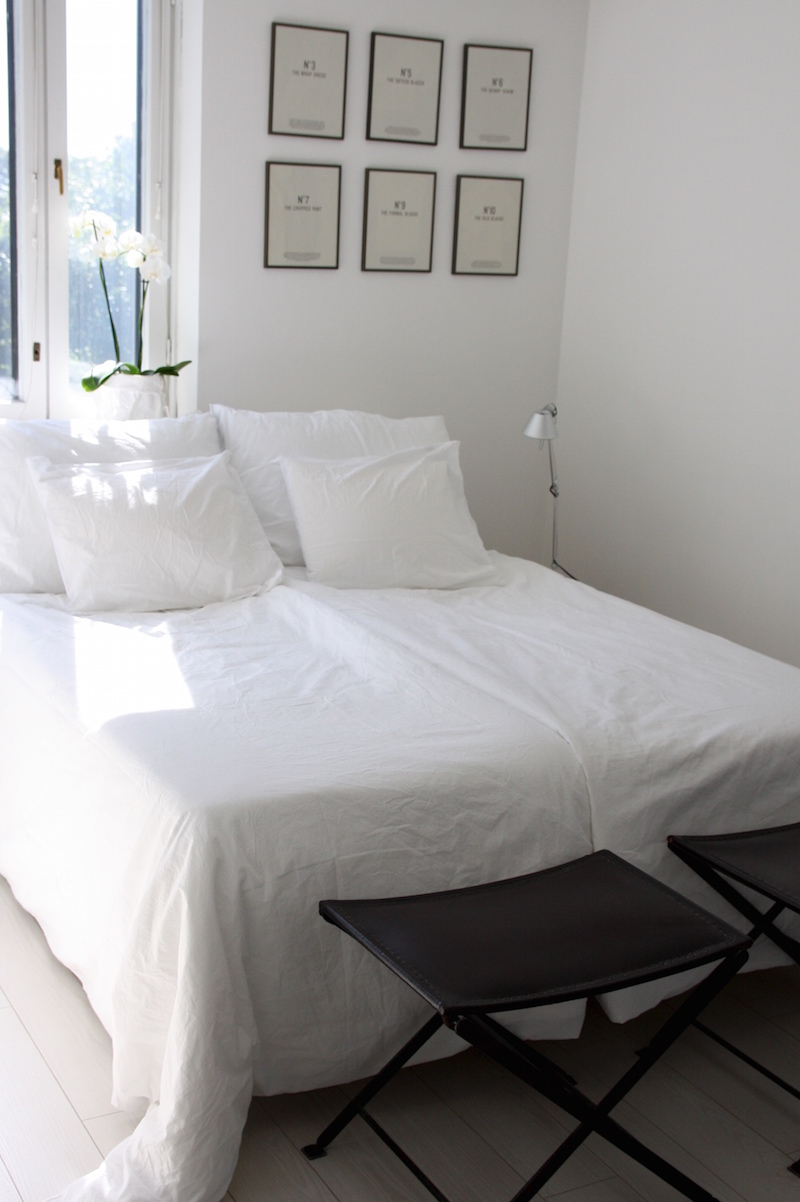 Homevialaura, Balmuir Maggiore -perkaalipuuvillalakanat, makuuhuoneen sisustus, petaus