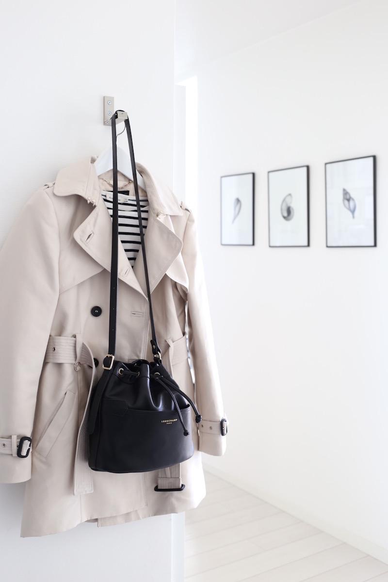 Homevialaura, laukku, Longchamp, 2.0 Bucket bag, trenssi, raitapaita