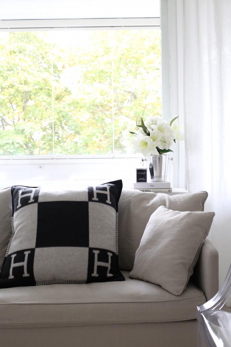 Homevialaura, Hermes Avalon, tyyny, Boknäs Julia, sohva
