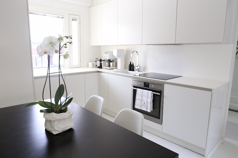 Homevialaura, valkoinen, moderni, vetimetön, keittiö, HTH, VH7