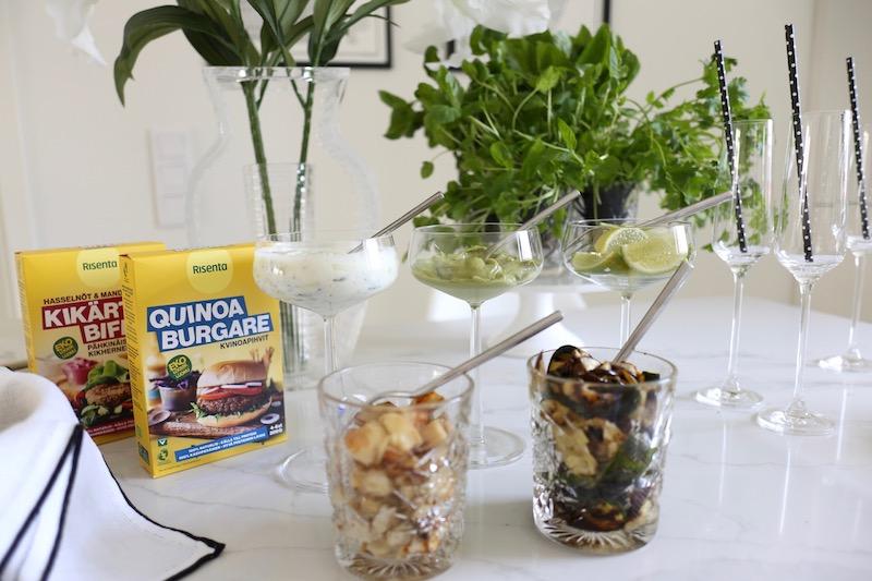 Homevialaura, Risenta, kikhernepihvit, kviniopihvit, kasvisruoka, juhlat