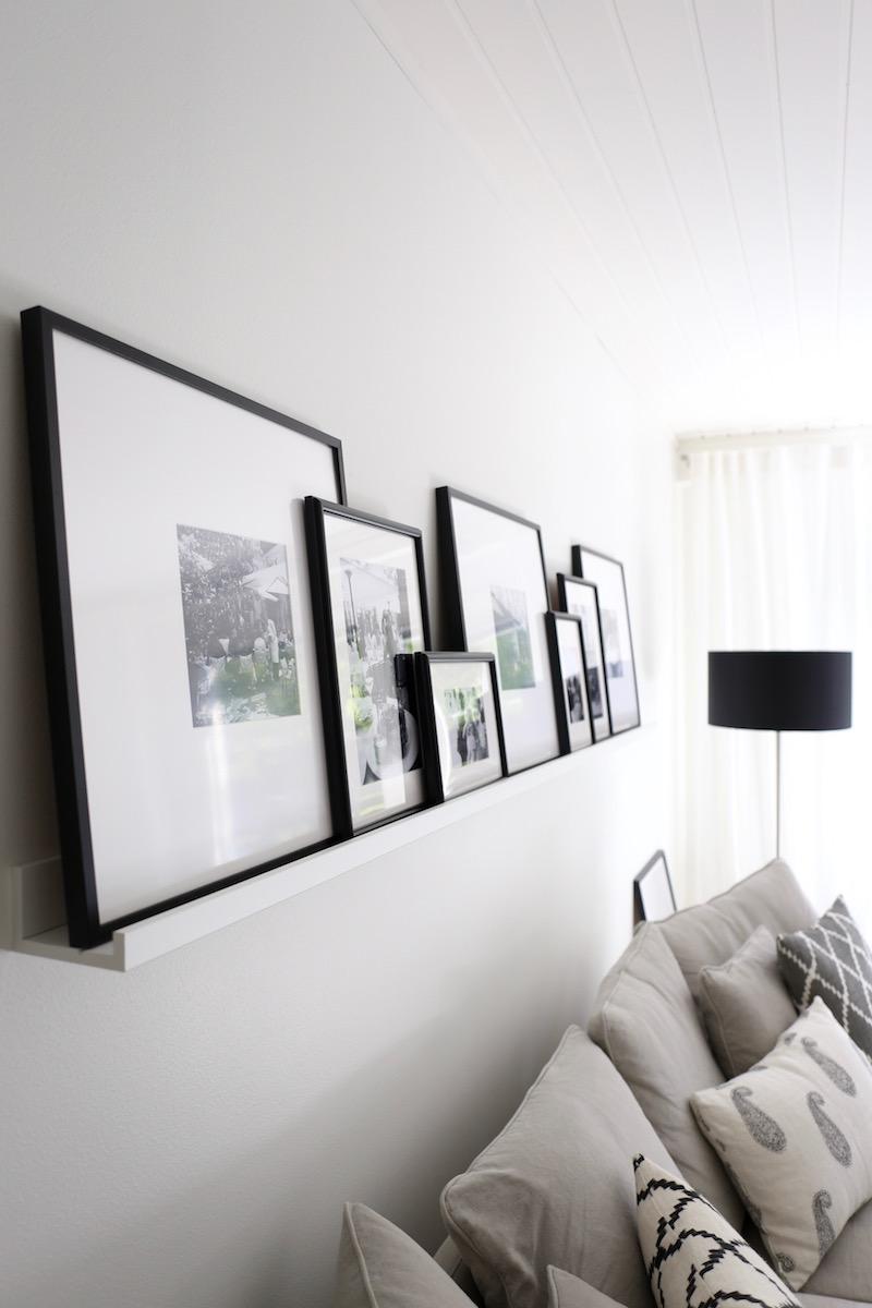 Homevialaura, sisustus, koti, olohuone, tauluhylly, tauluseinä, Chhatwal & Jonsson
