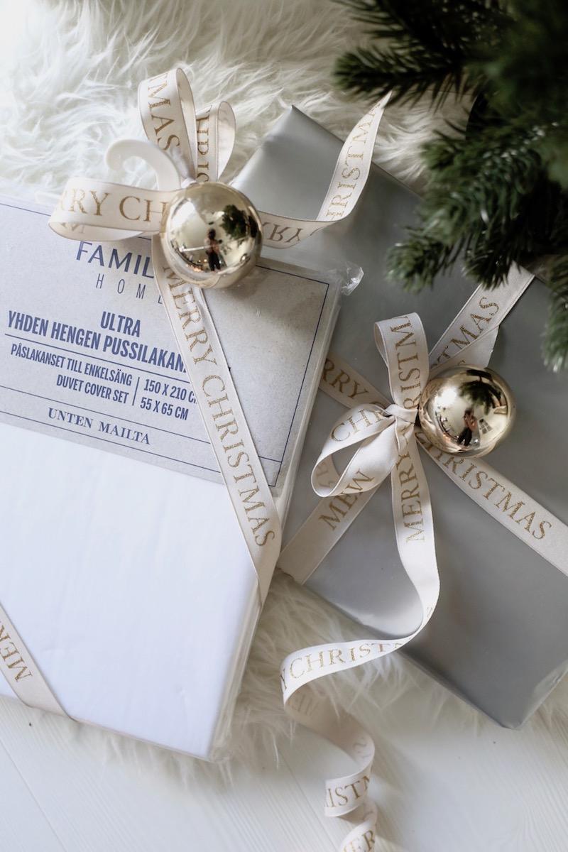Homevialaura, Familon, Hyvän unen joululahjat, perkaalipuuvillalakanat
