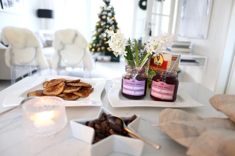 Homevialaura, joulun terveelliset pannarit, resepti, Den Gamle Fabrik, hillo, Sun-Maid, rusinat