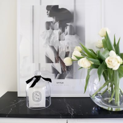 Ikea Billy Hack –särmää mustalla marmorilevyllä