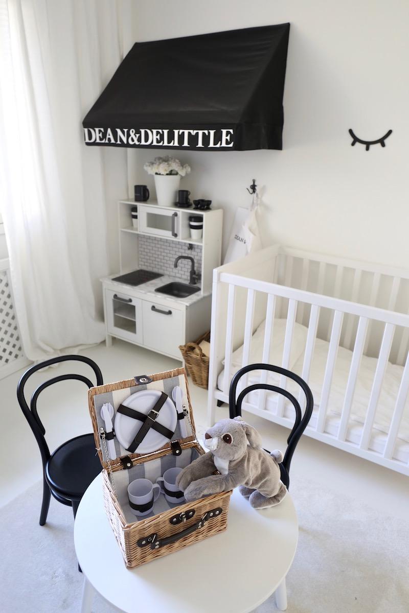 Homevialaura, lastenhuone, lasten piknik-kori