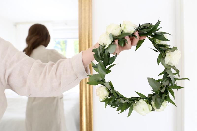 Homevialaura, luonnonkosmetiikka, Urtekram, kukkaseppele