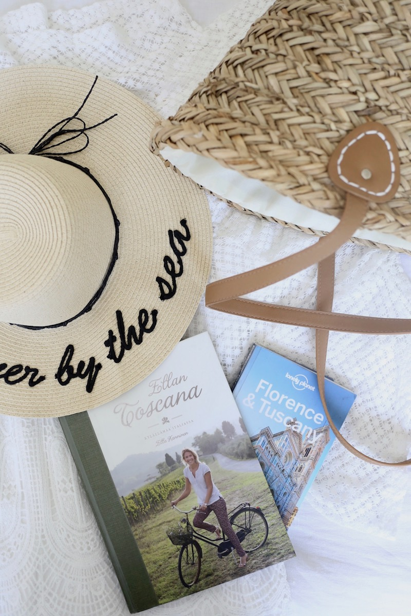 Homevialaura, pakkaaminen kesälomamatkalle Toscanaan