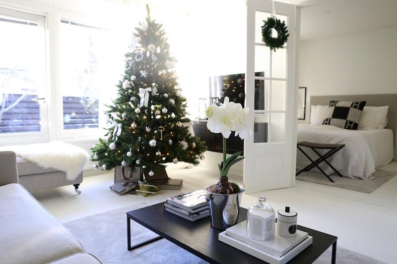 Homevialaura, joulu, olohuone, joulukuusi
