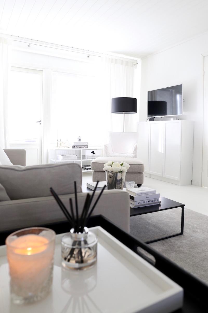 Homevialaura, olohuone, sisustus, pyöreä peili, Ikea Vittsjö