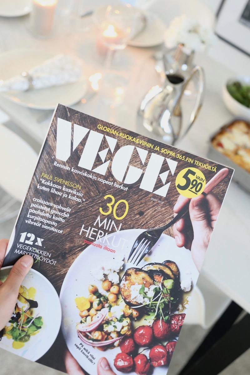 Homevialaura, syksyinen kasvisruoka, Vege-lehti