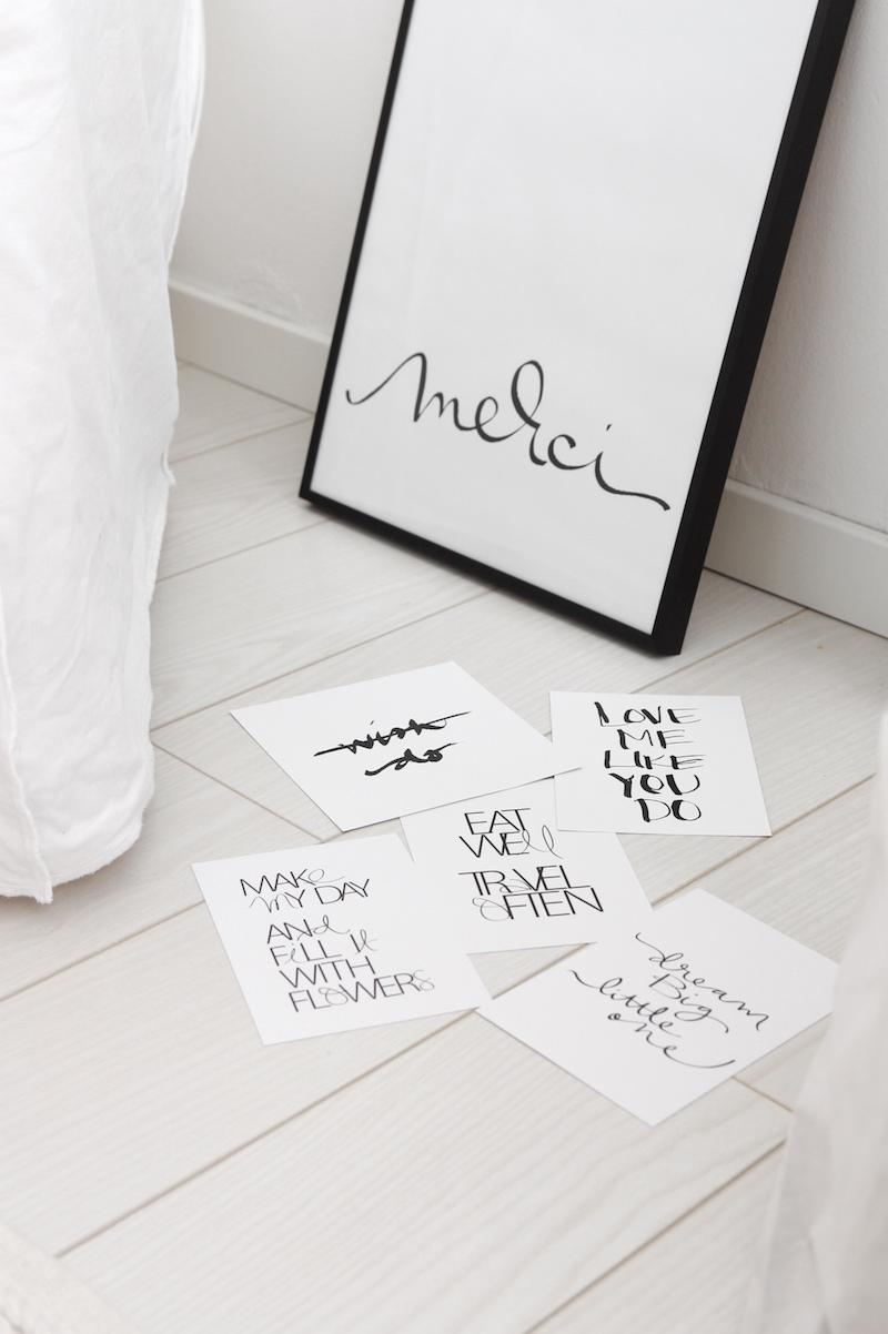 Homevialaura, tekstijuliste, tekstikortti, Annika Välimäki, graafinen suunnittelu, kalligrafia