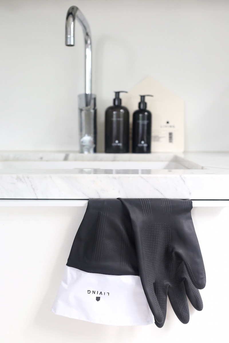 Homevialaura, Dermosil Living, Dermoshop, mustavalkoinen kosmetiikka, tiskihanskat