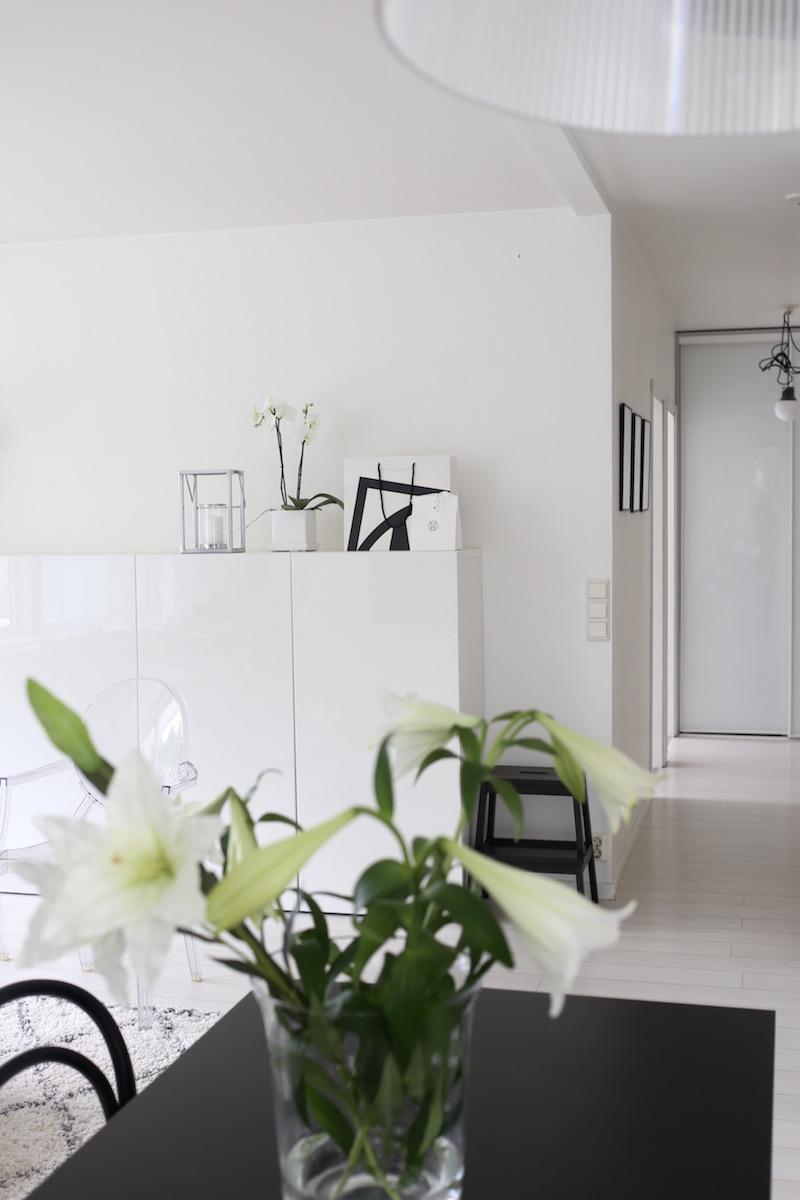 Homevialaura, olohuone, eteinen, Ikea Bestå, Ellos Tanger, Inaria, kaapisto