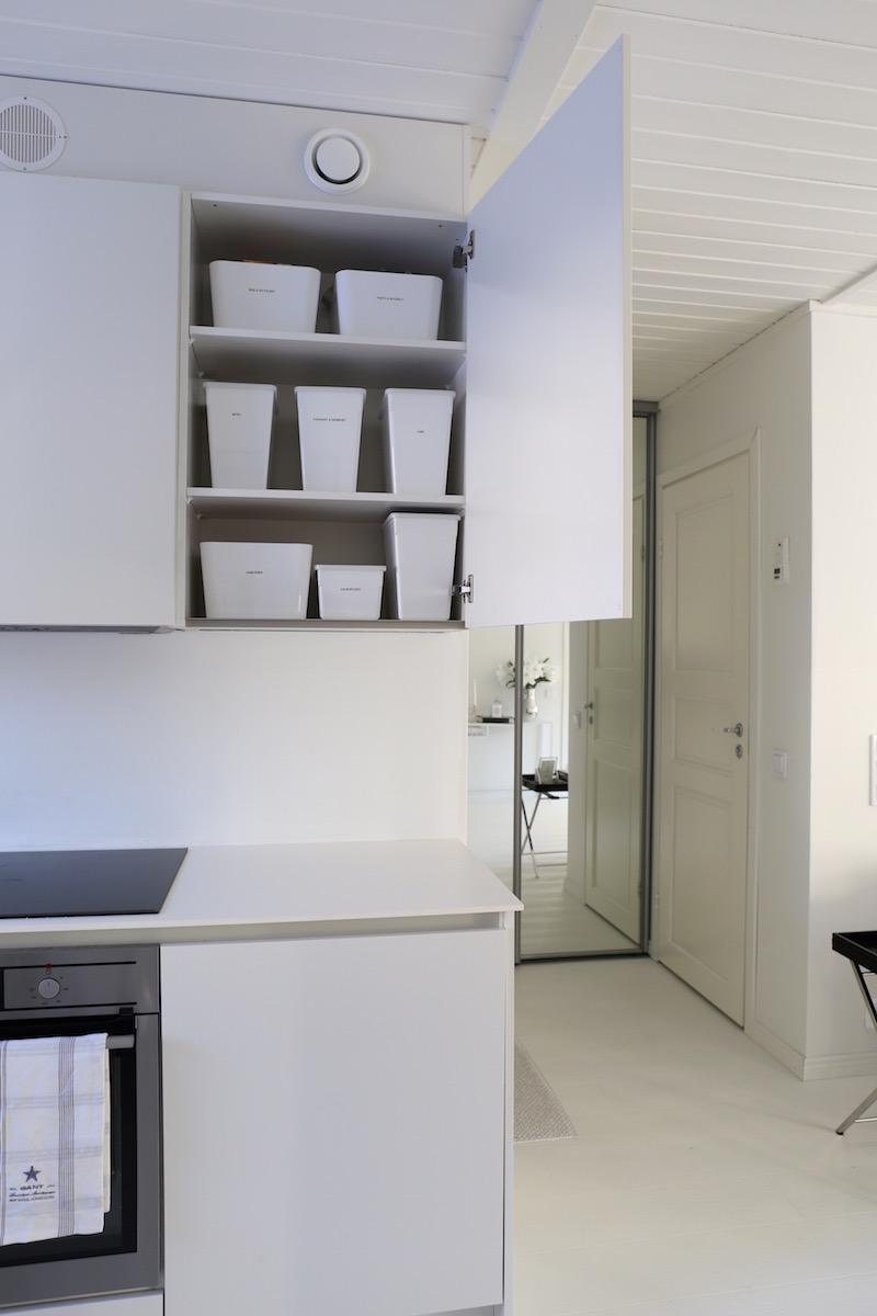 Homevialaura, keittiö, järjestys, säilytys, kuivakaappi, Ikea, Kuggis, Tillsluta