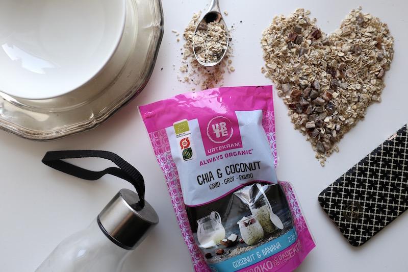 Homevialaura, Urtekram, Chia & Coconut, Chia & Cocoa, tuorepuuro