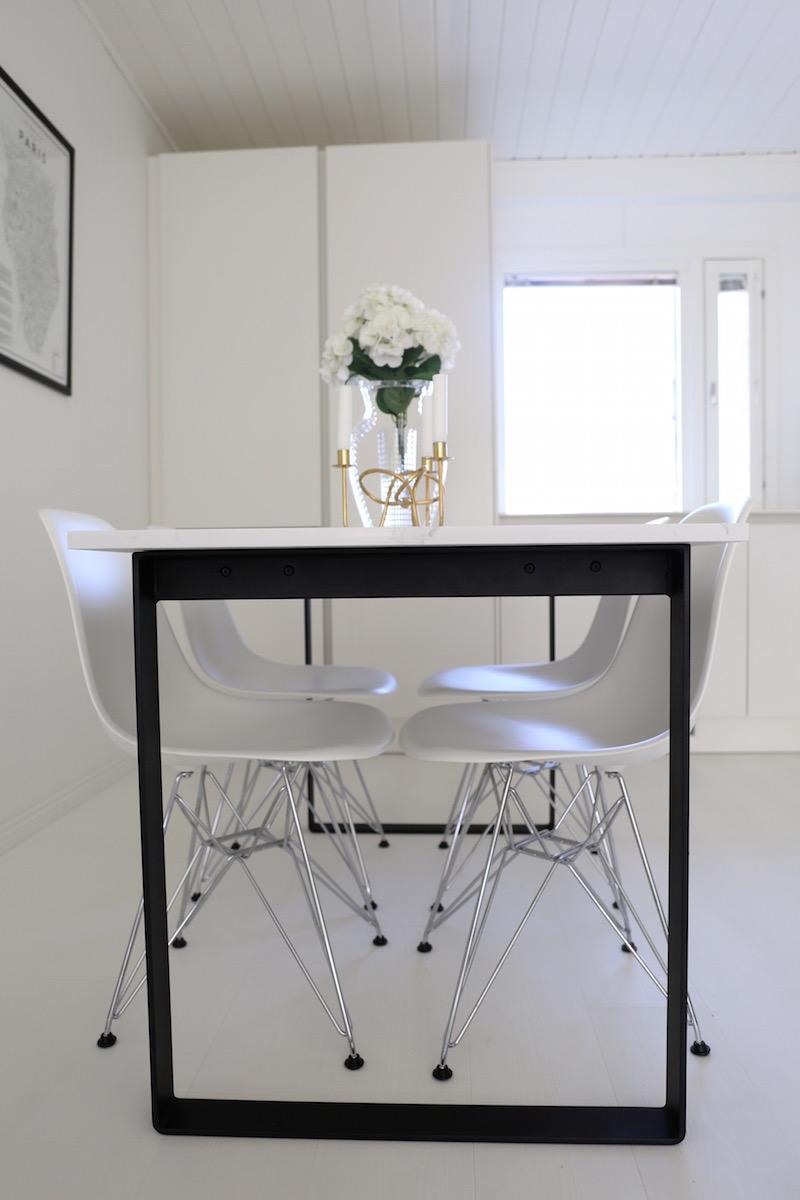 Homevialaura, marmoripöytä, teetetty ruokapöytä, kvartsi, calacatta, marmori