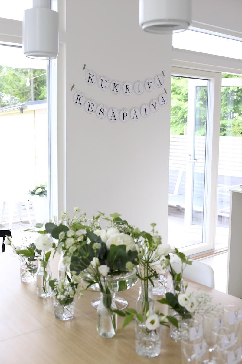 Homevialaura, Kuistin kautta, kesäjuhlat, tarjoilut, koristelu