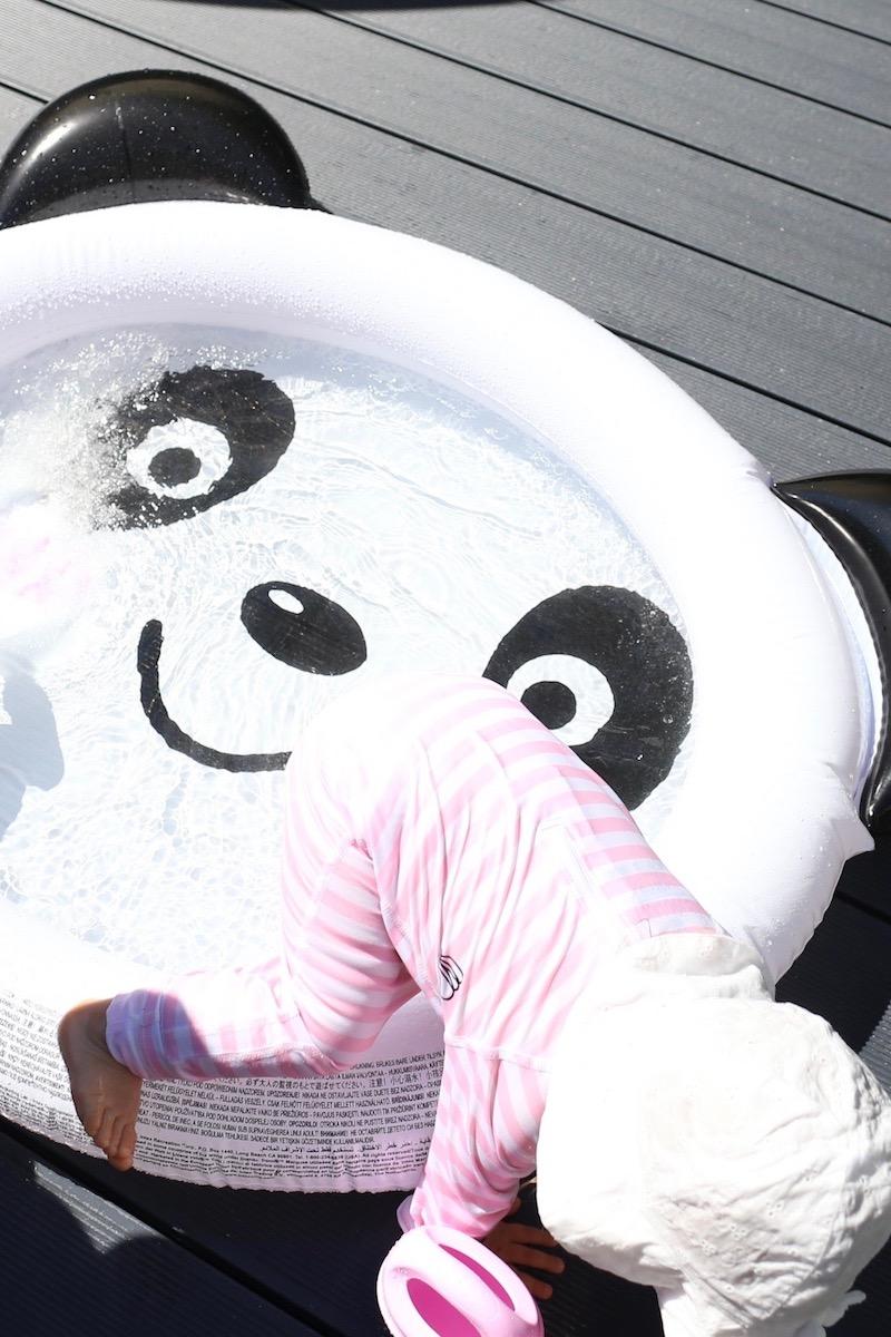 Homevialaura, lasten puhallettava uima-allas, panda