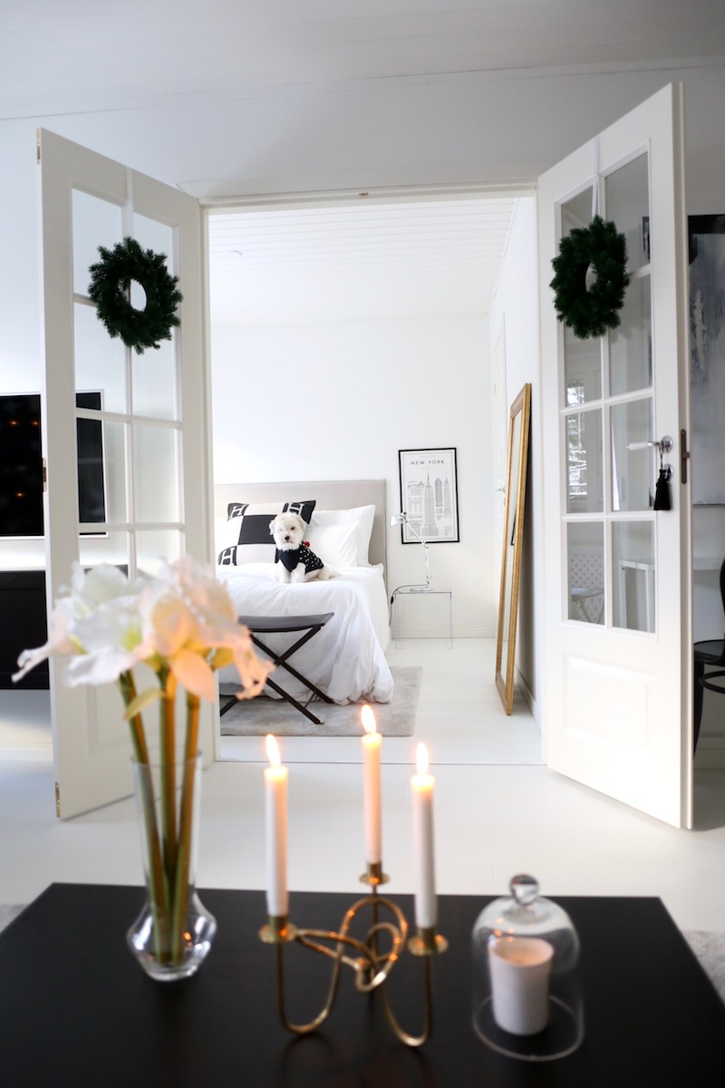 Homevialaura, joulu, sisustus, joulukoti, havukranssi, amaryllis