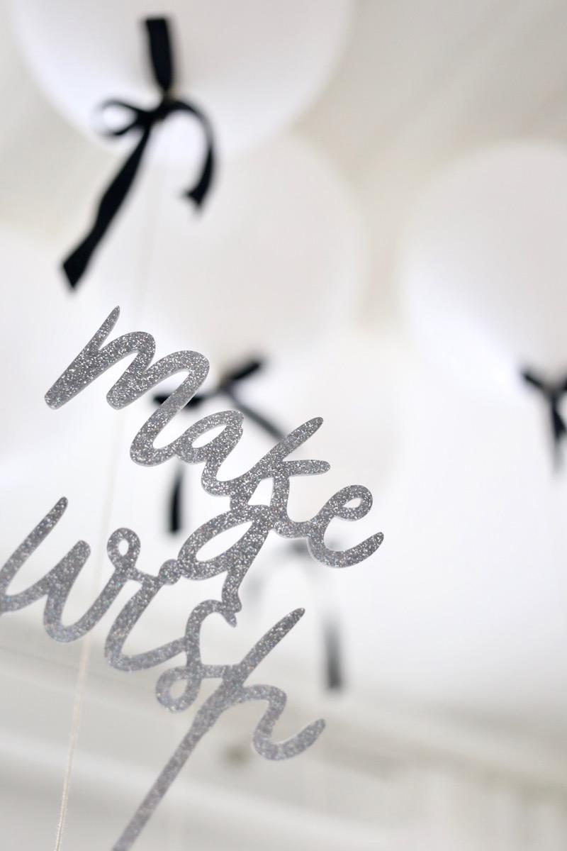 Homevialaura, lastensynttärit, 2-vuotissynttärit, ilmapallot ruseteilla, Make a wish