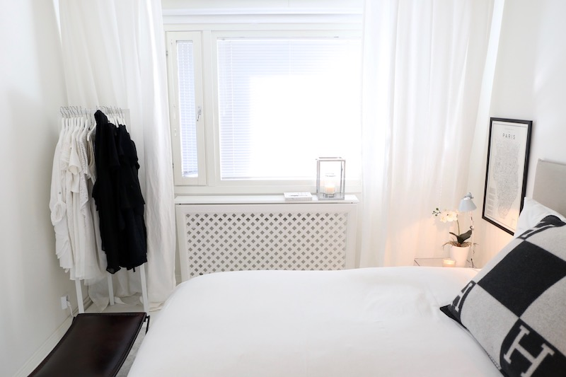 Homevialaura, makuuhuoneen sisustus, patterinsuoja, Lundbers Klara