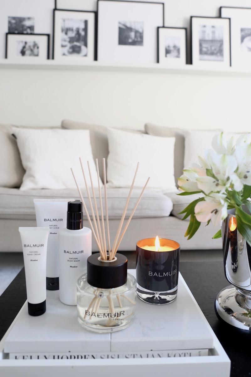 Homevialaura, Balmuir, home spa, luonnonkosmetiikka, huonetuoksu, tuoksukynttilä