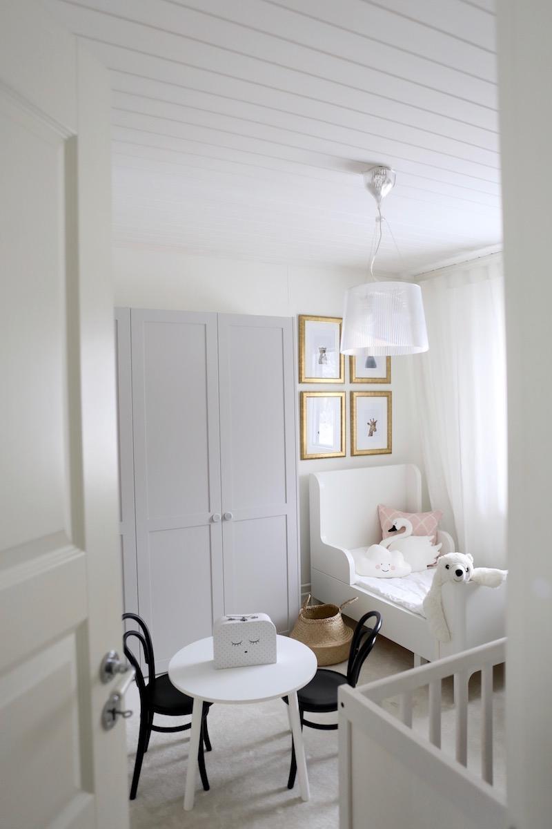 Homevialaura, lastenhuone, sisustus, Ikea Busunge, lastensänky
