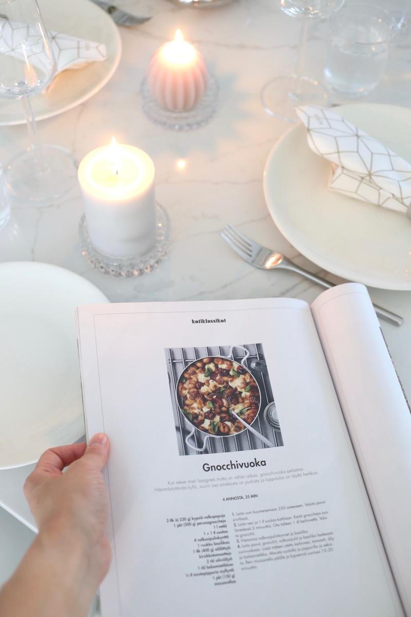 Homevialaura, syksyinen kasvisruoka, Vege-lehti, gnocchivuoka