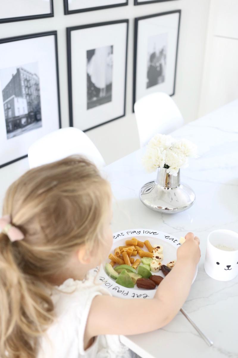 Homevialaura, lapsen ruokailu
