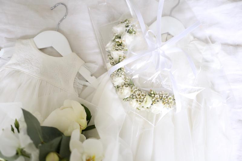 Homevialaura, ristiäiset, kastejuhla, vauvan kukkaseppele