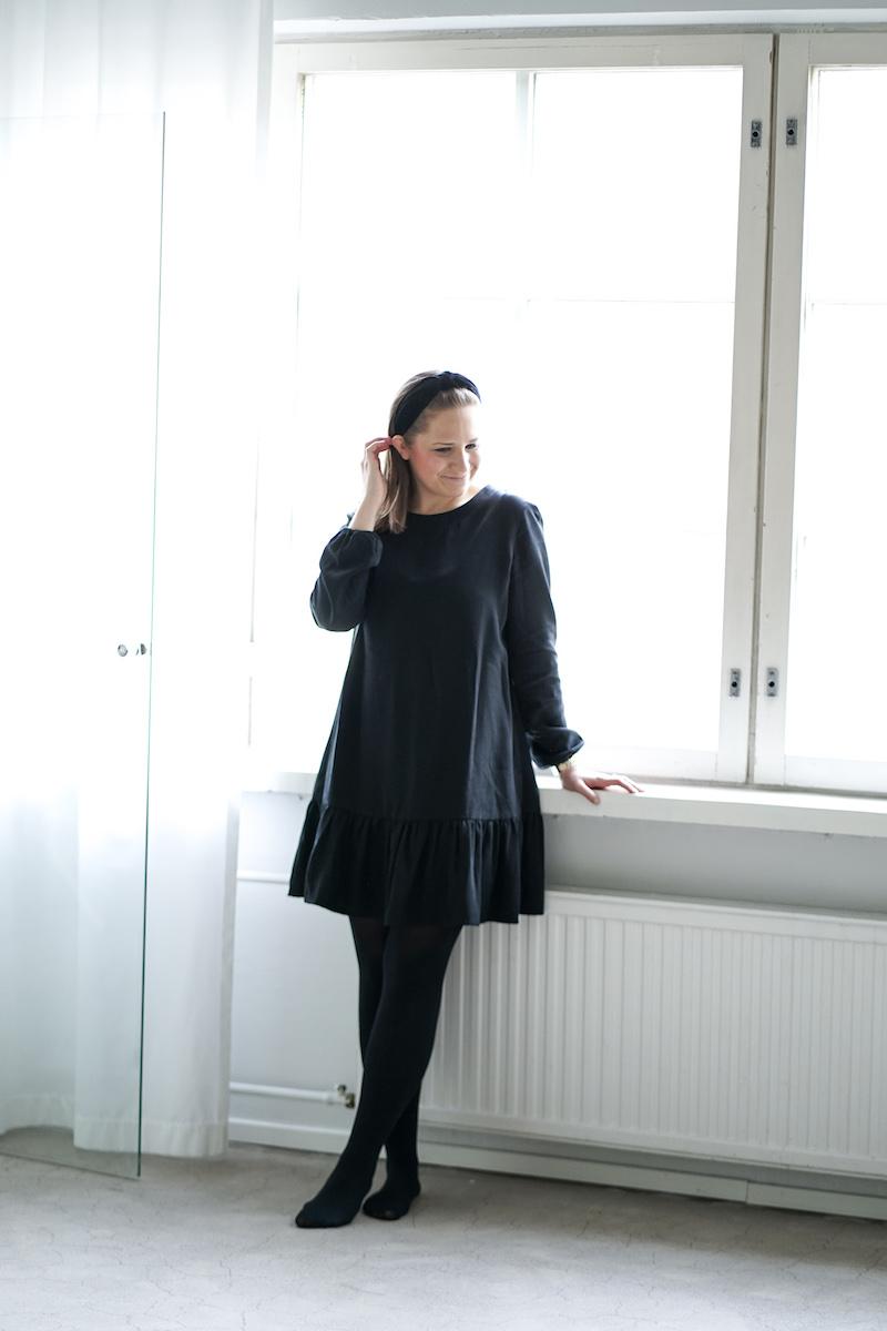 Homevialaura, Gauhar Helsinki, Frill Dress black, pikkumusta