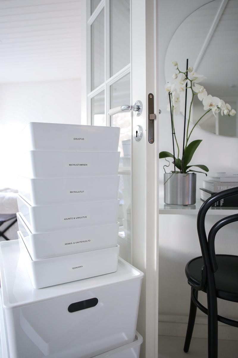 Homevialaura, Kaunis järjestys, säilytys, Ikea Kuggis, säilytyslaatikot, PET-muovi