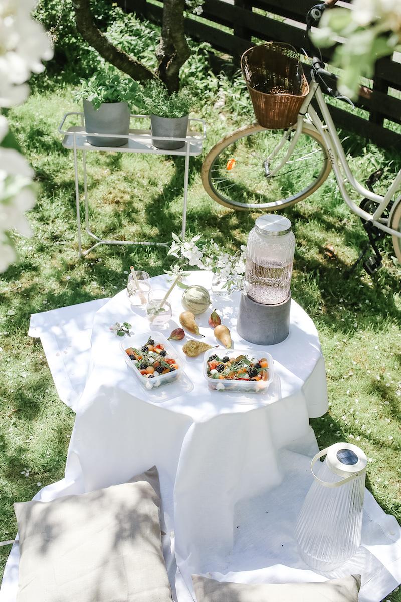 Kesästä nauttimista ja rentoutumista oman pihan piknikillä