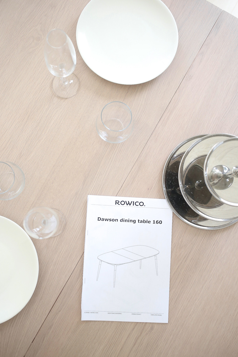 Homevialaura, ovaali ruokapöytä, tammi whitewash, Rowico Dawson