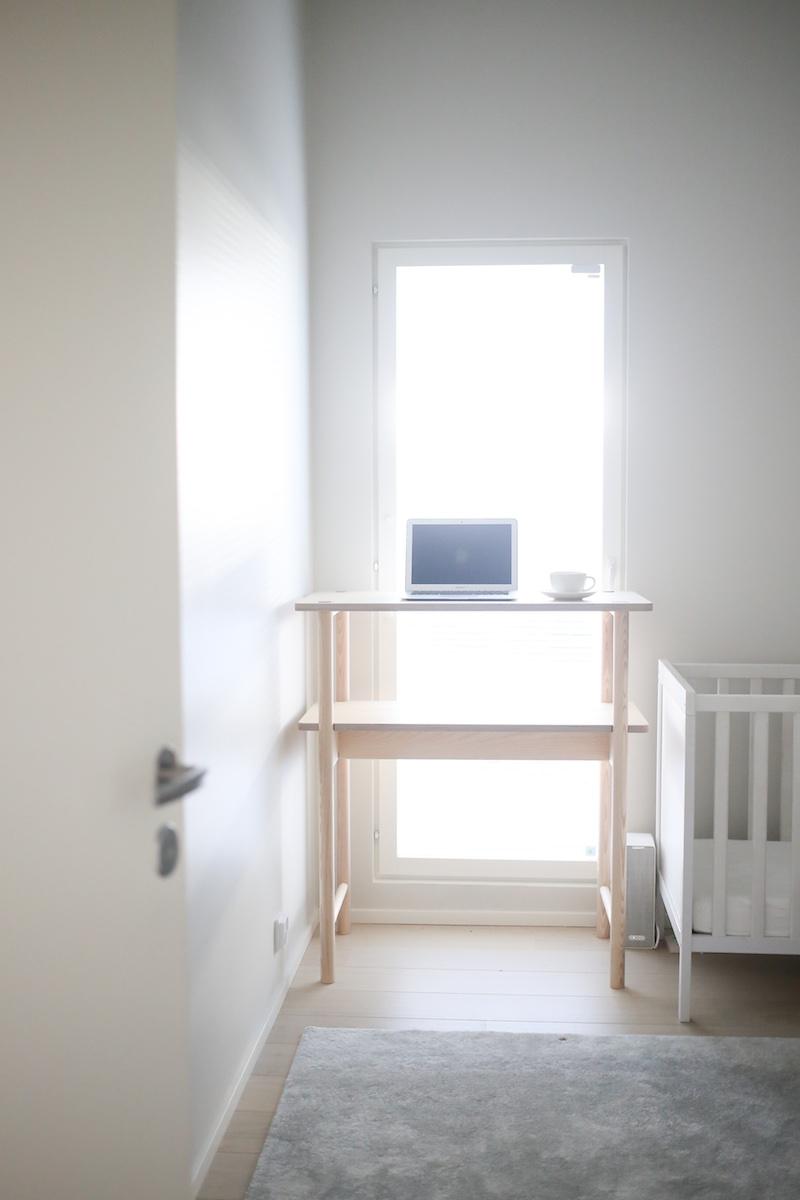 Made by Choice, Fem, Fyra. työpöytä, kotitoimisto, työhuone, etätyö, Ikea Långfjäll, työtuoli