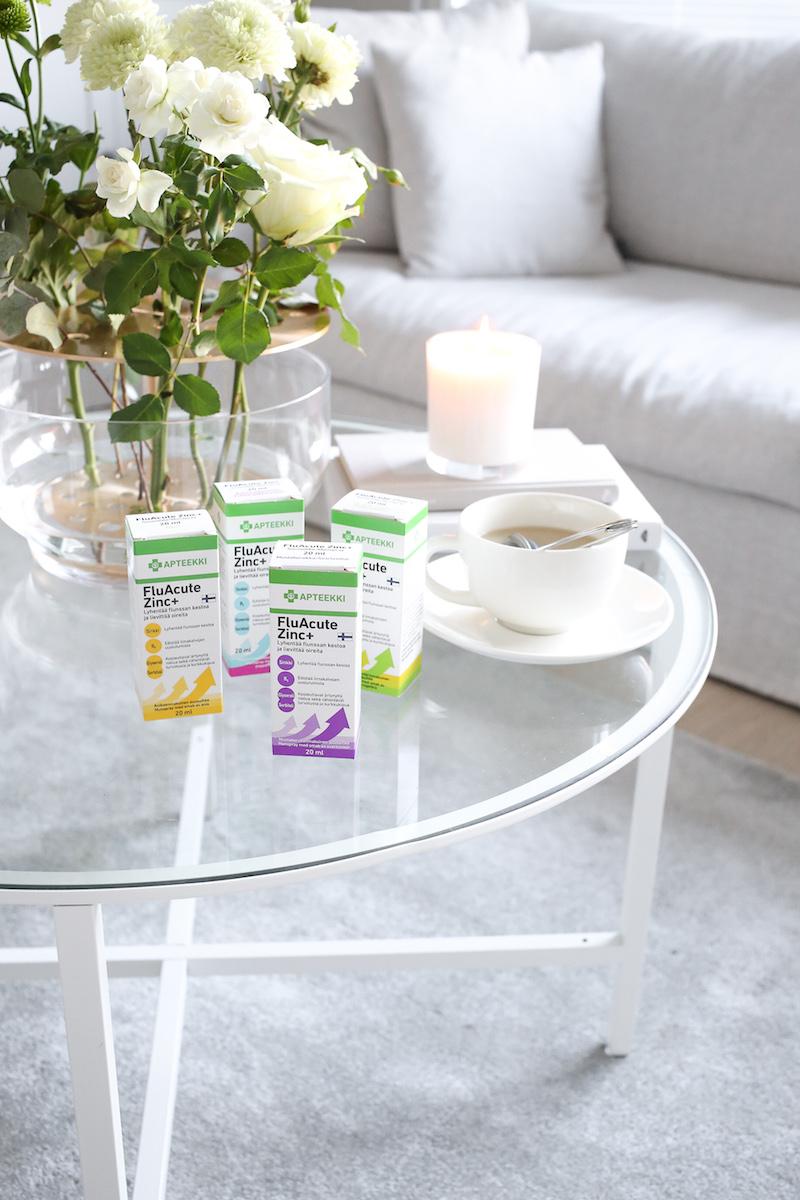 Homevialaura, FluAcute Zinc+, flunssa, sinkkisuihke