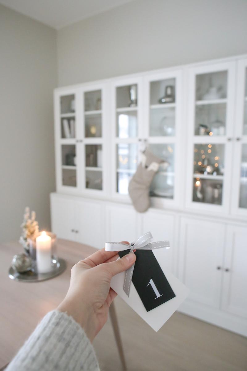 Homevialaura, aineeton joulukalenteri lapselle, DIY-joulukalenteri, joulusukka