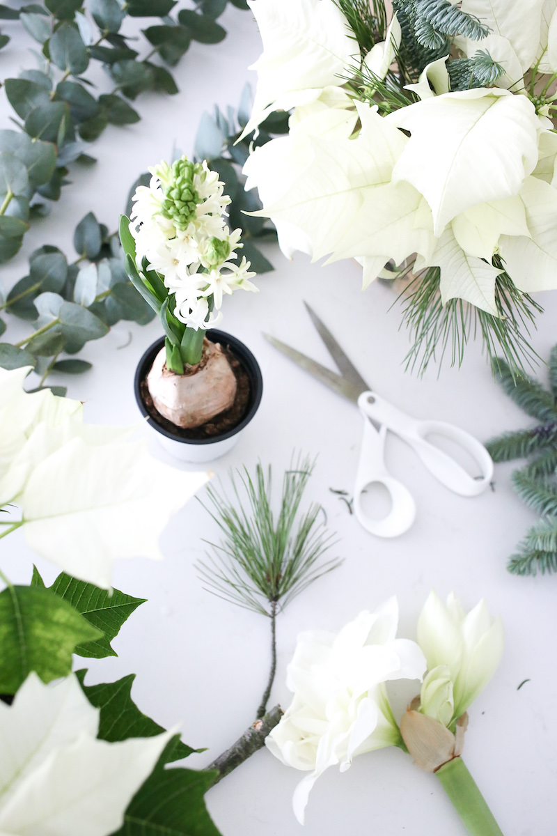 Homevialaura, Kauniisti Kotimainen, kotimaiset joulukukat, joulutähti, ikebana
