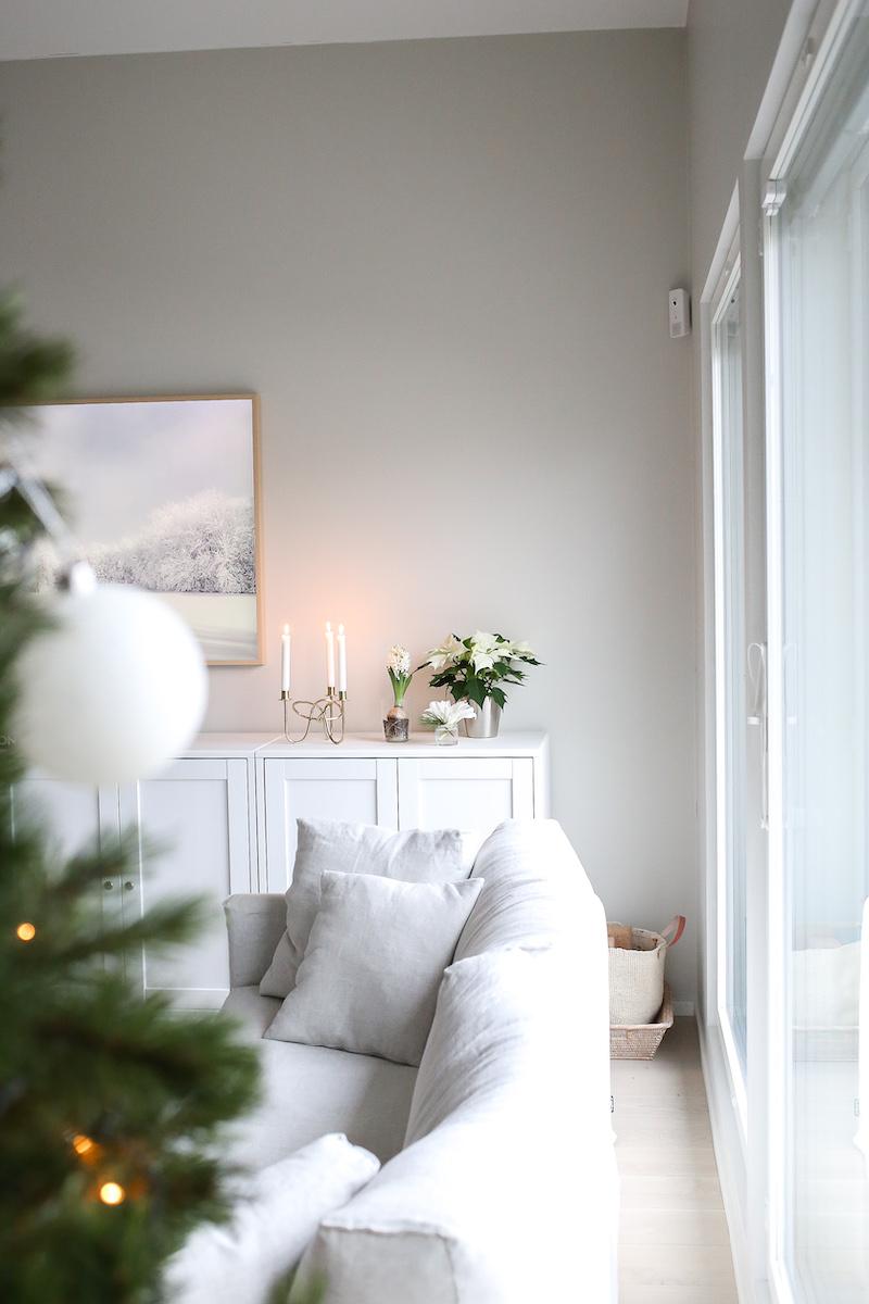 Homevialaura, Kauniisti Kotimainen, kotimaiset joulukukat, joulutähti, ikebana, hyasintti, ritarinkukka
