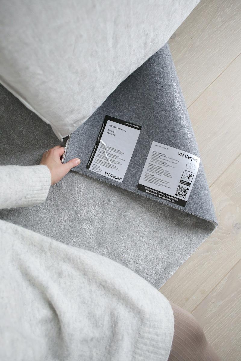 Homevialaura, VM Carpet, Hattara, harmaa, matto, olohuoneen matto