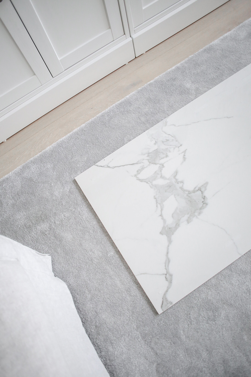 Homevialaura, marmorilaatta, calacatta