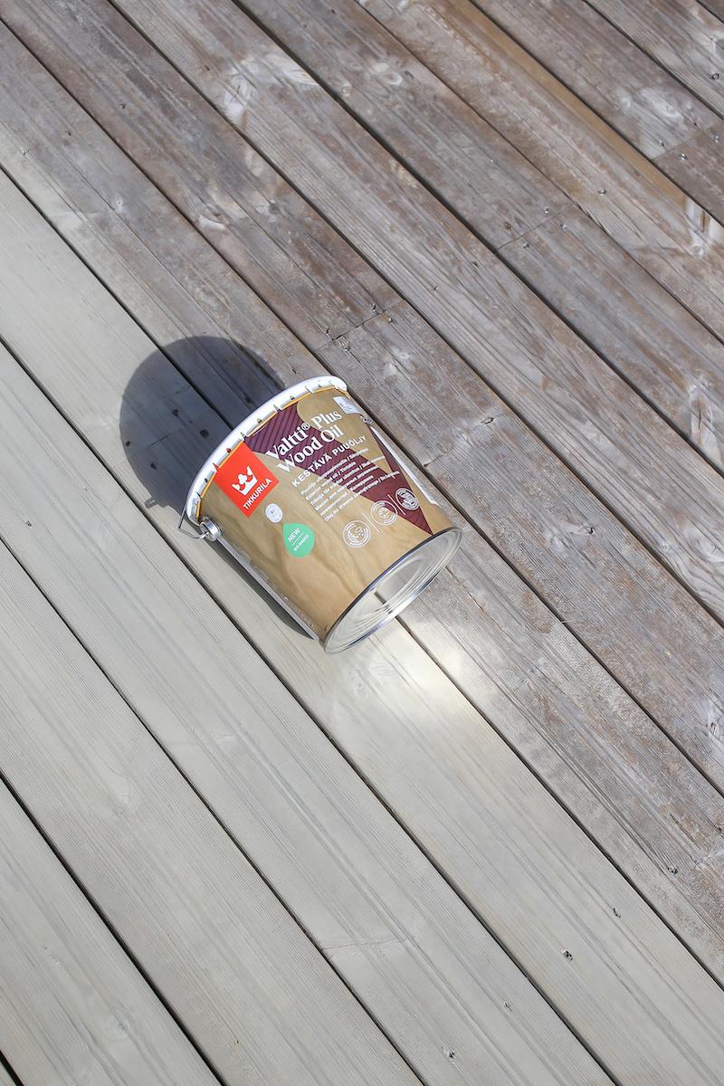 Homevialaura, terassin öljyaminen, Tikkurila Vasa 5080, Valtti Plus Wood Oil