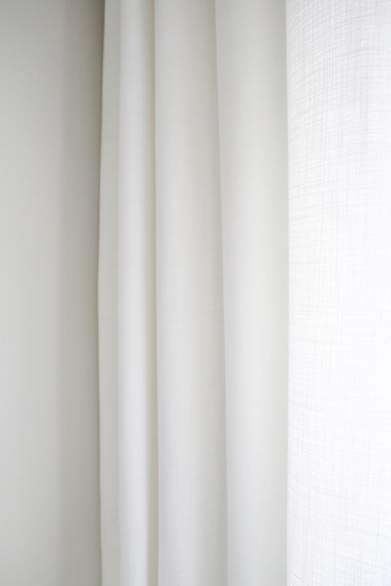 Homevialaura, Eurokangas, olohuoneen verhot, valkoiset verhot, ylipitkät verhot