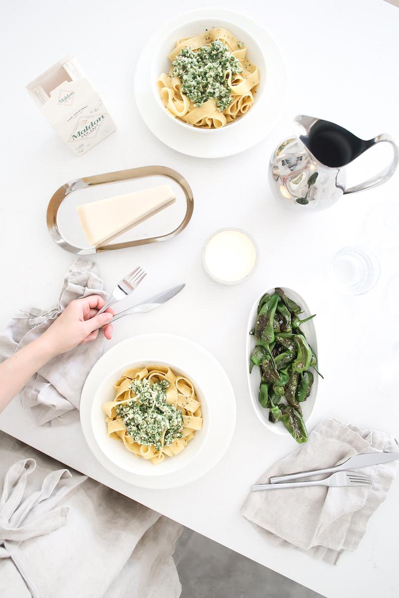 Homevialaura, itse tehty pesto, pasta